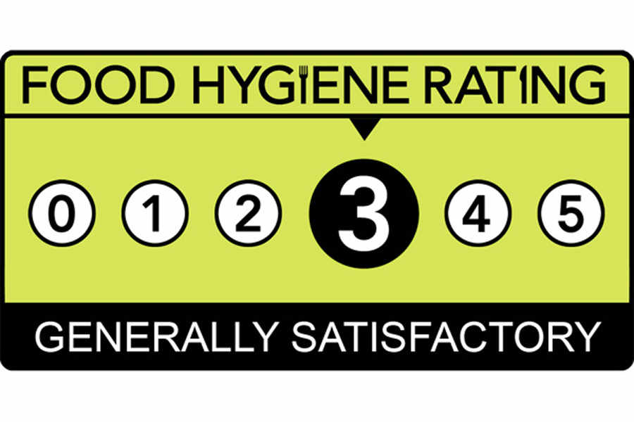 Image result for 3 star food hygiene rating