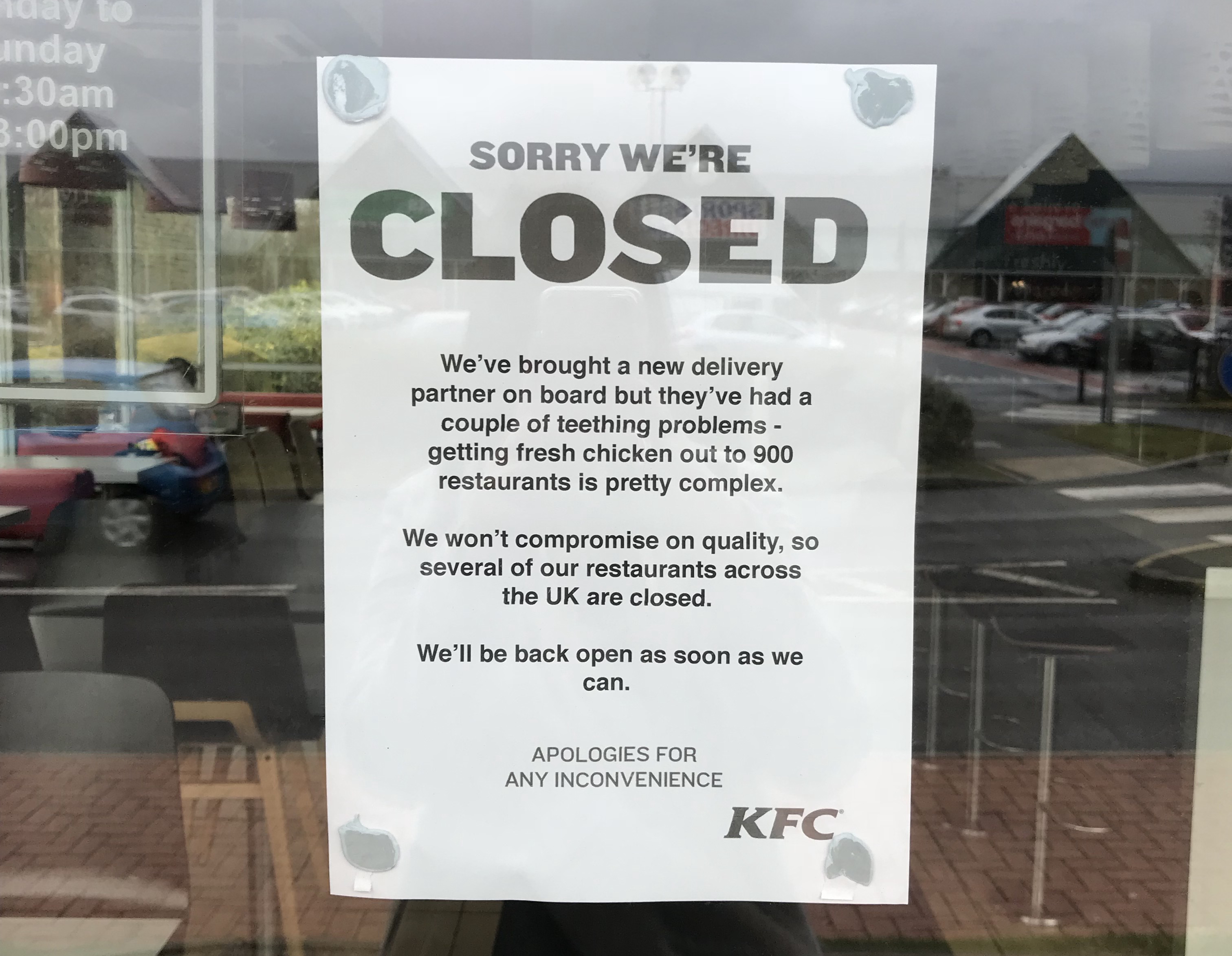 Five out of six Shropshire KFCs still shut due to delivery delays ...