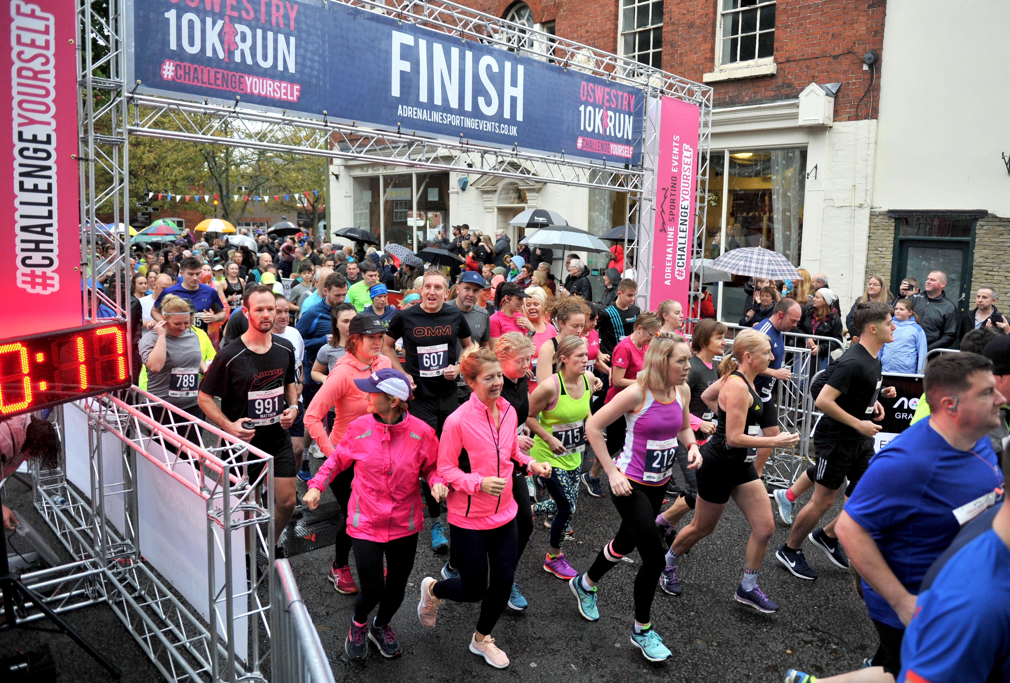 GALLERY: Crowds brave rain for first-ever Oswestry 10K